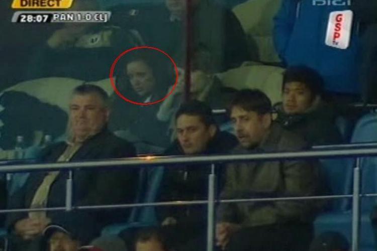 Bianca Dragusanu il urmareste pe Cristea din tribuna stadionului din Severin - VIDEO