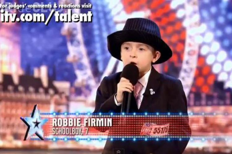 Vezi cine e urmasul lui Robie Williams: Un pusti de la Britain's got talent! VIDEO