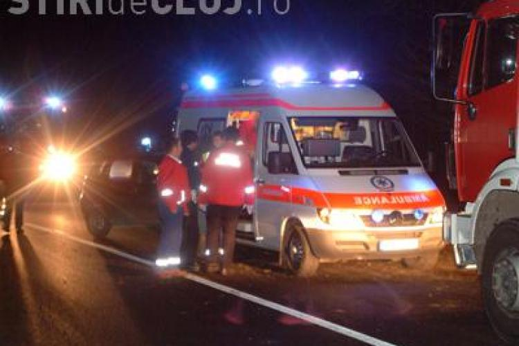 Pasagerul unui taximetru a murit in Bunesti, langa Gherla! In accident a mai fost ranita o persoana - VIDEO