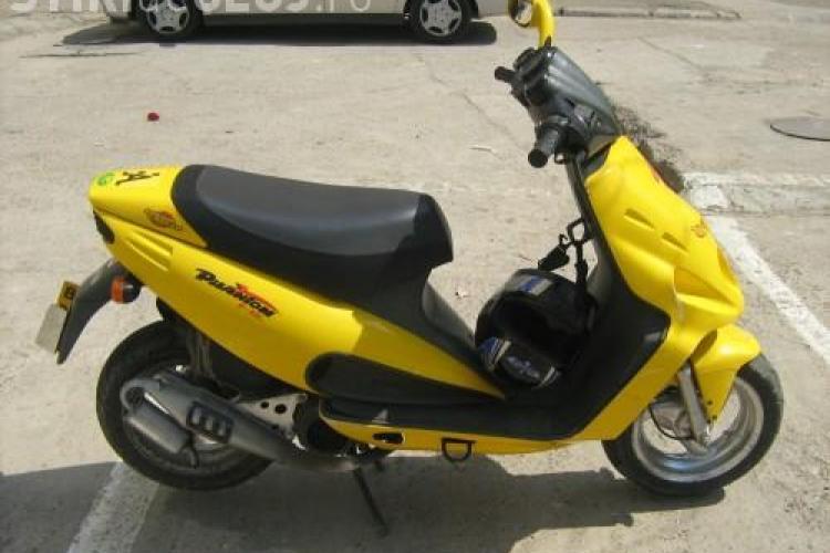 Un spargator periculos din Cluj a fost prins dupa ce a furat un scuter!