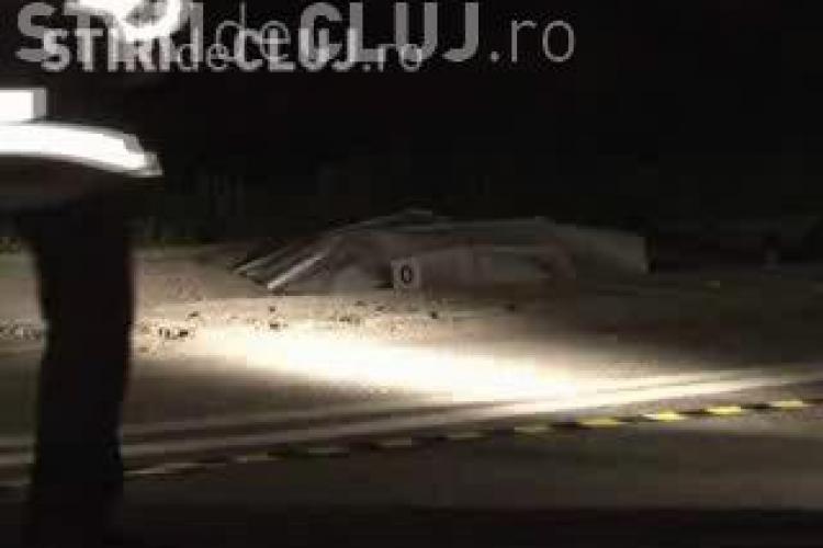 Accident in Cuzdrioara, judetul Cluj! Un barbat din Dej a murit, dupa ce a fost lovit de o duba! VIDEO IMAGINI SOCANTE