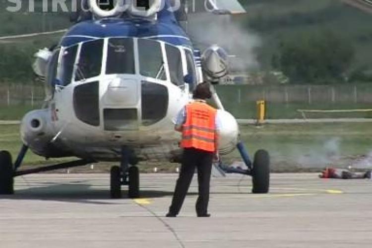 Explozia unui avion, simulata pe Aeroportul International Cluj! VEZI VIDEO