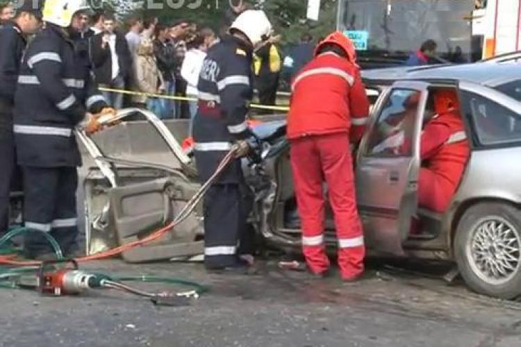 Accident la intrare in Gherla! 9 persoane au fost ranite, iar doua sunt in stare critica VIDEO