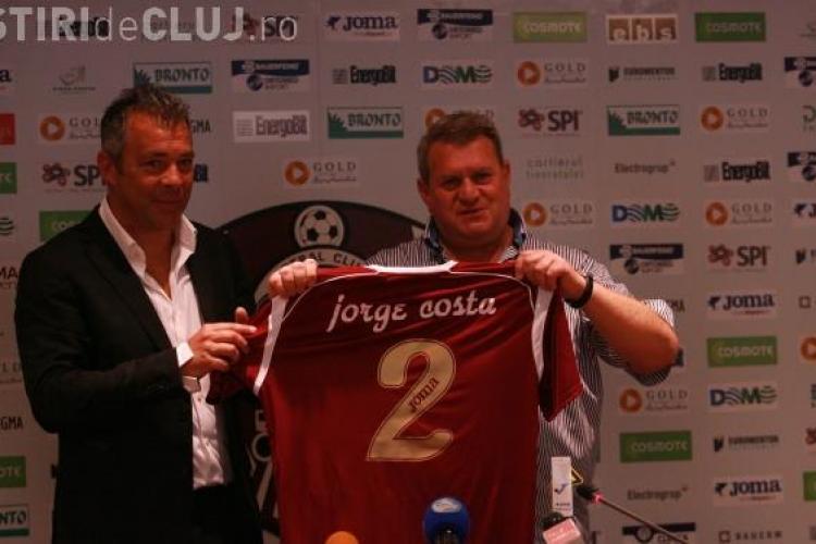 OFICIAL: Jorge Costa este noul antrenor de la CFR Cluj