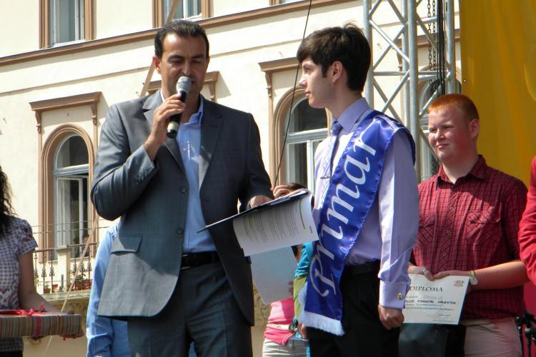 David Gordan, elev in clasa a X-a la Colegiul Emil Racovita, este primarul Clujului pentru o zi - FOTO si VIDEO