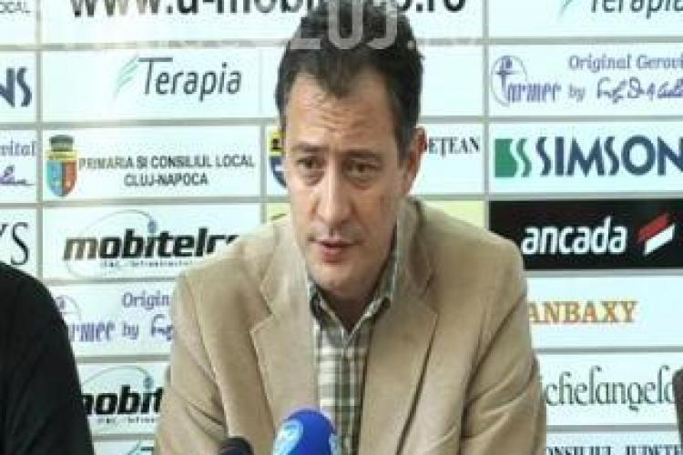 Presedintele clubului U Mobitelco, Mircea Cristescu, catre suporteri: Va asteptam marti pe toti in alb!