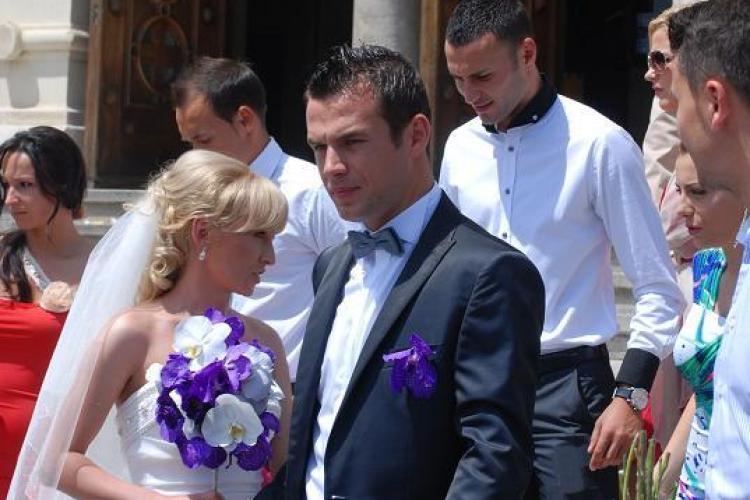 Dorin Goga, atacantul echipei Poli Timisoara, s-a casatorit astazi la Cluj VEZI FOTO