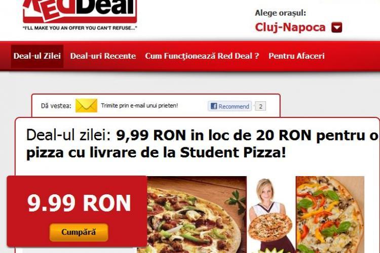 Student Pizza cu livrare gratuita in Cluj, la doar  9,9 lei in loc de 20 de lei (P)