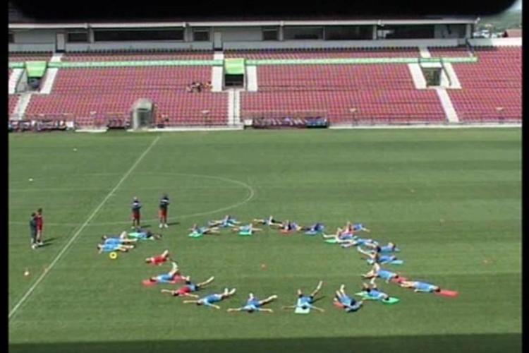 Vezi imagini de la primul antrenament al Universitatii Cluj FOTO si VIDEO
