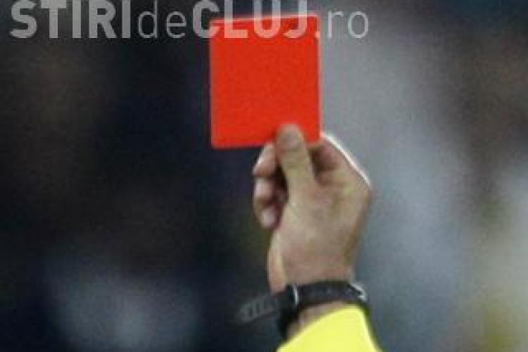 Tot al cincilea cartonas rosu dat in LIga I a fost aratat unui jucator clujean