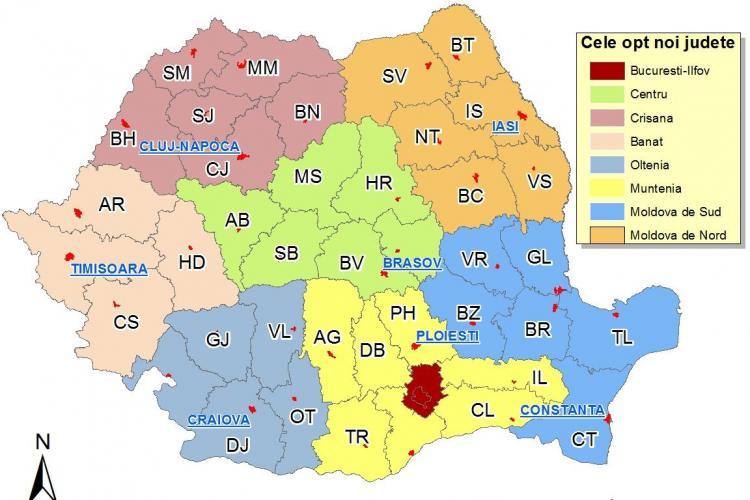 Numele judetului care va avea capitala la Cluj ar putea fi Crisana. Ce parere aveti?