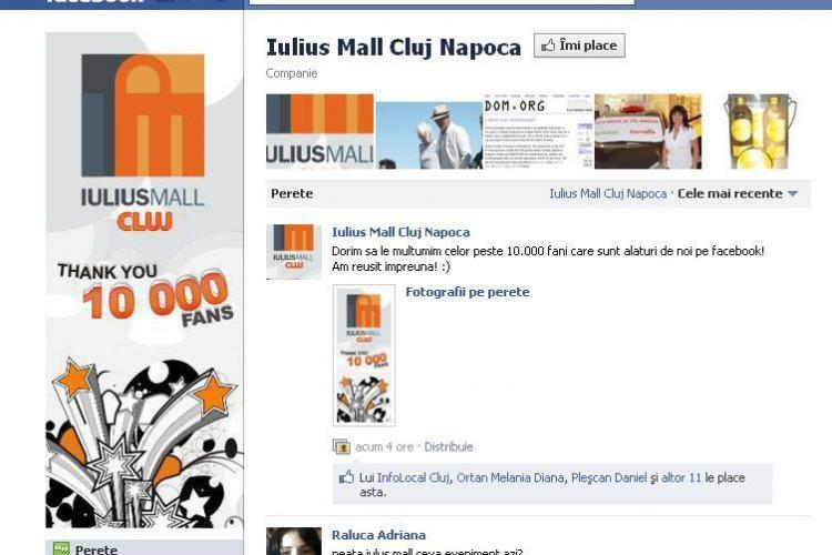 Iulius Mall Cluj are 10.000 de fani pe Facebook