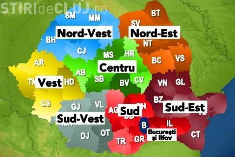Vezi cum ar putea arata Romania dupa reorganizarea teritoriala