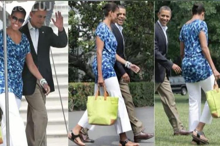 Michelle Obama a purtat o rochie care costa doar 30 de dolari