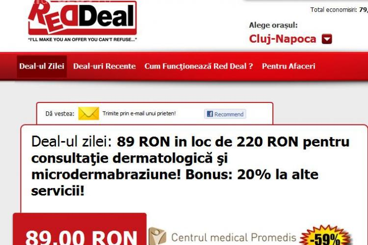 Vreti un ten mai curat?  89 lei in loc de 220 lei pentru consultatie dermatologica si microdermabraziune! Bonus: 20% la alte servicii! (P)