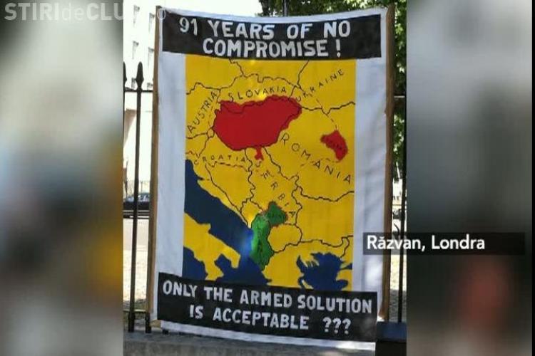 Protest la Londra pentru independenta Tinutului Secuiesc FOTO