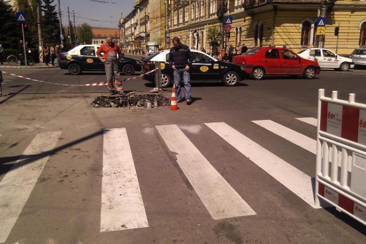 E.ON Gaz sparge strazile din Cluj, iar sefii fug de presa! Ultima victima: strada Republicii sparta de 7 ori VIDEO