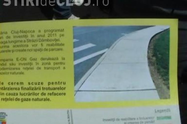 Primaria Cluj-Napoca isi cere scuze in numele E.ON Gaz: Compania blocheaza proiectele de asfaltare din oras VIDEO