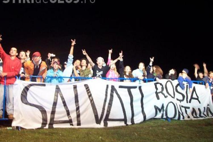 Protest la Cluj impotriva Rosia Montana Gold Corporation: Hai la Hunoriada! Kelemen Hunor vrea sa distruga Rosia Montana