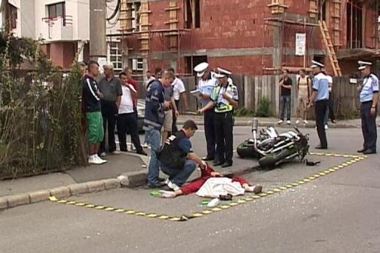 Un motociclist a murit intr-un accident pe strada Septimiu Albini. Avea 150 de km/h VIDEO - IMAGINI SOCANTE