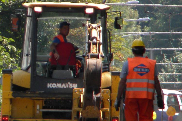Splaiul Independentei, inchis traficului pe o portiune pentru modernizarea liniei de tramvai VIDEO si FOTO
