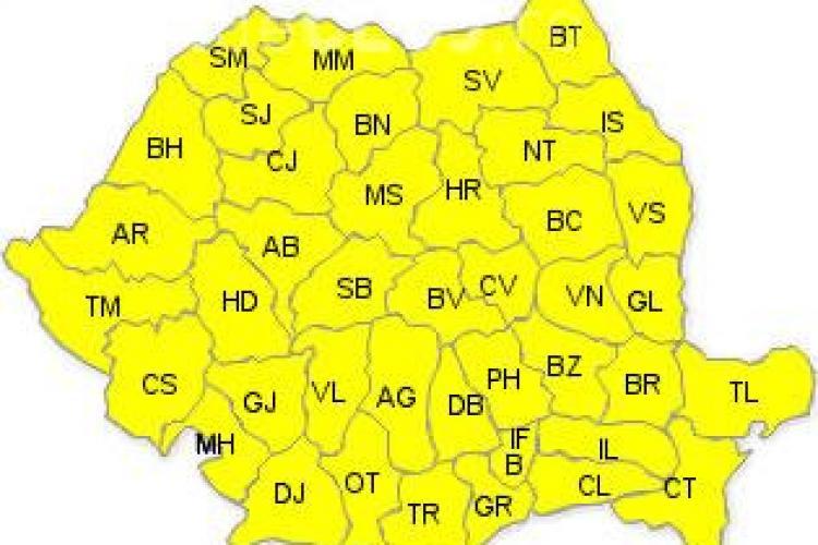Cod galben de canicula la Cluj
