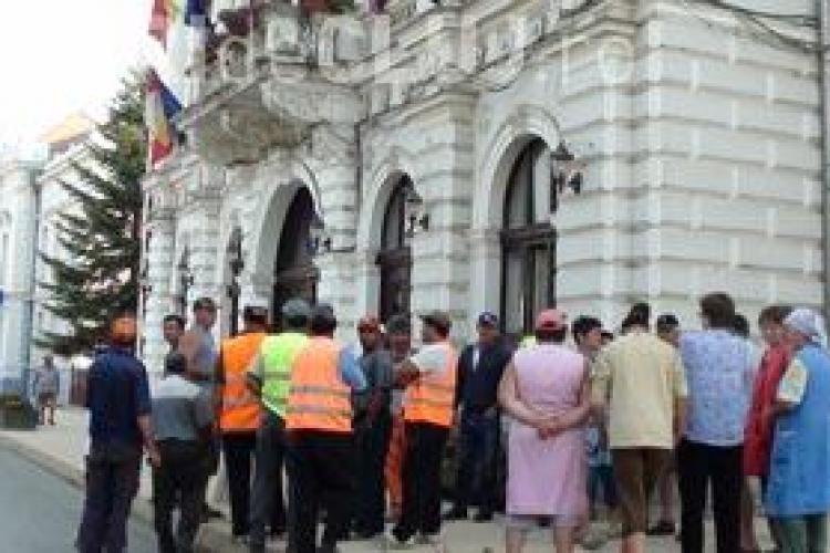 Protest spontan la SC Domeniul Public Turda SA