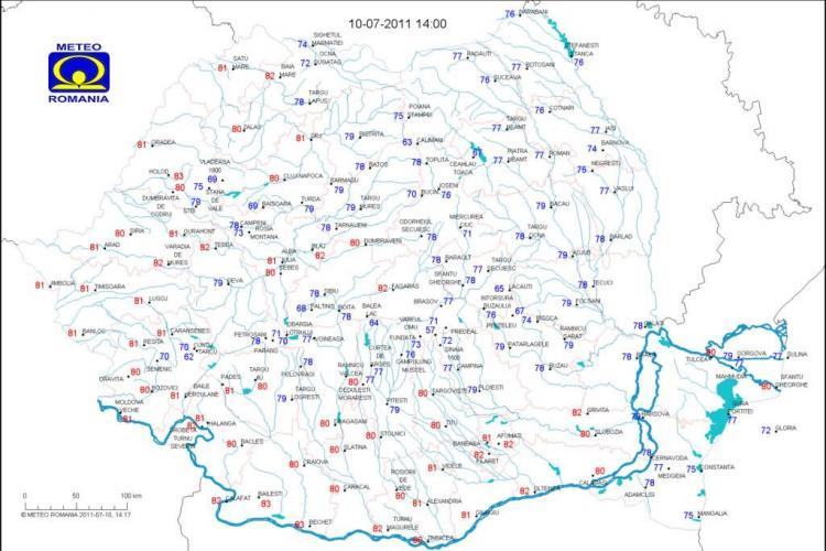 Indicele de confort termic a atins pragul critic la Cluj