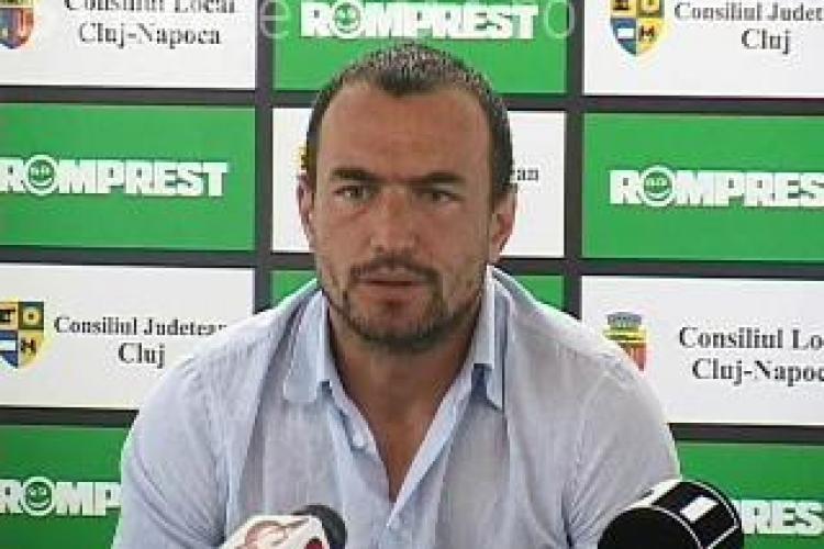 Antrenorul Universitatii Cluj, Ionut Badea, despre meciul cu Lazio: Este un exercitiu de imagine - VIDEO