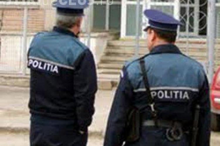 Barbatul care a batut doi politisti la Gilau a fost retinut in Sibiu