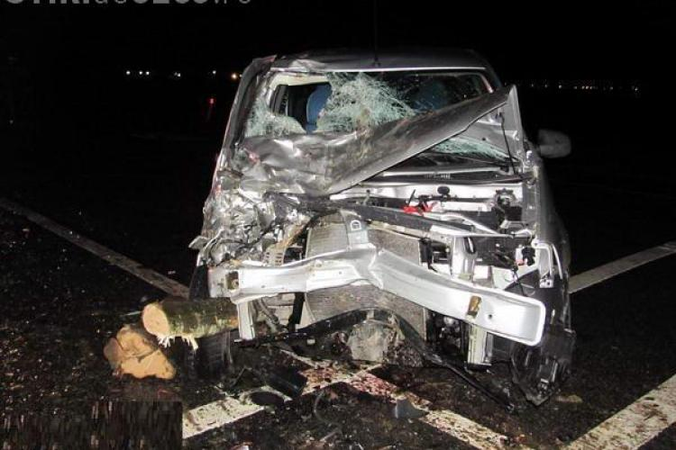 Accident in Livada! O masina BGS a intrat sub un TIR si doi agenti de securitate au murit VIDEO
