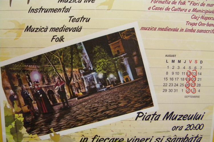 Concerte in Piata Muzeului pe durata lunii august! Vezi detalii
