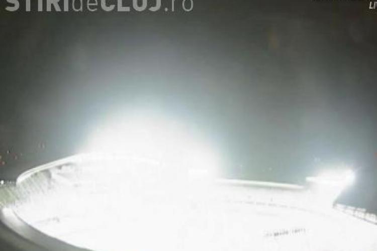 Nocturna si instalatia de sonorizare de pe Cluj Arena, testate miercuri seara VIDEO