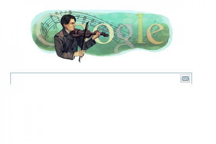 Google marcheaza 130 de ani de la nasterea lui George Enescu