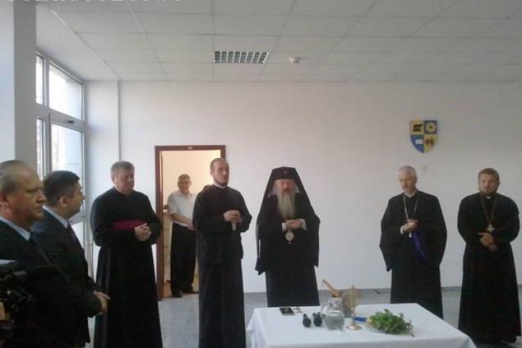 Noul sediu al Consiliului Judetean, sfintit de capii bisericilor ortodoxa, greco-catolica si romano-catolica din Cluj