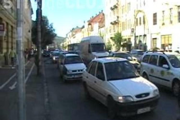 Meciul Steaua - TSKA Sofia a dat peste cap circulatia din centrul Clujului - VIDEO