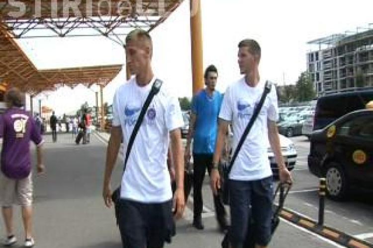 Austria Viena a ajuns la Cluj pentru confruntarea cu Gaz Metan Medias VIDEO