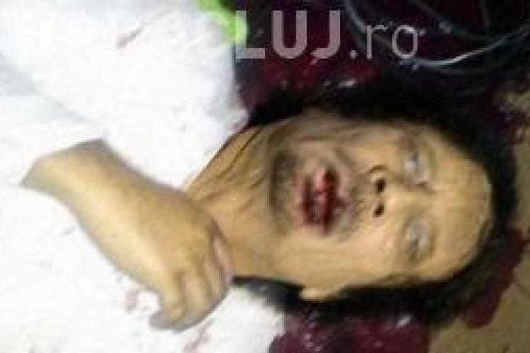Fotografie cu Gaddafi mort, circula pe internet FOTO