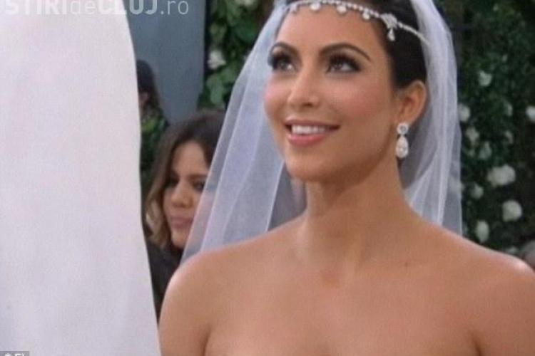 Cat a castigat Kim Kardashian la nunta! VEZI imagini de la nunta VIDEO