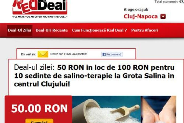 10 sedinte de salino-terapie la Grota Salina in centrul Clujului cu doar 50 lei in loc de 100 lei! (P)