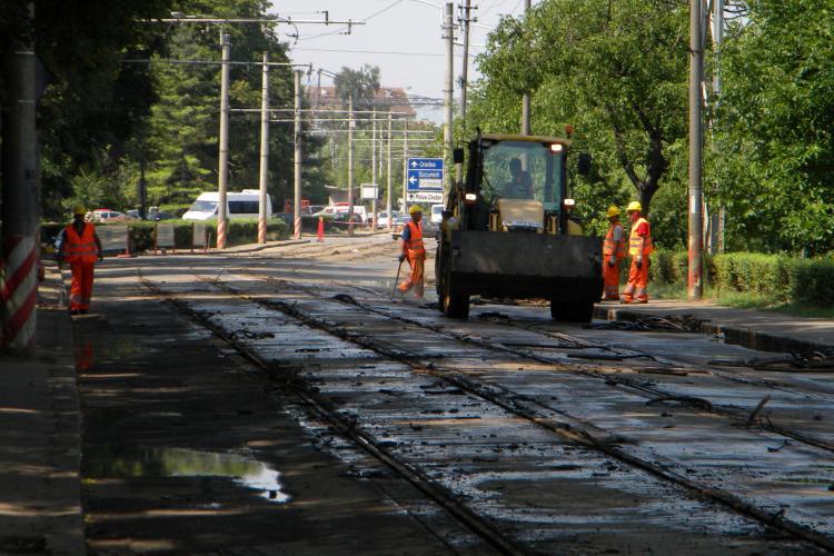 Primele 500 de tone de sina de tramvai au ajuns la Cluj-Napoca