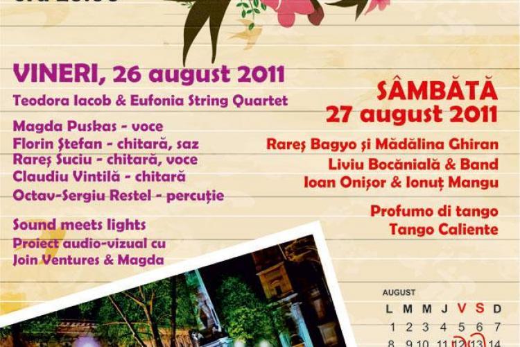 Concerte in Piata Muzeului! Magda Puskas canta vineri, iar pe cladiri vor fi proiectate imagini