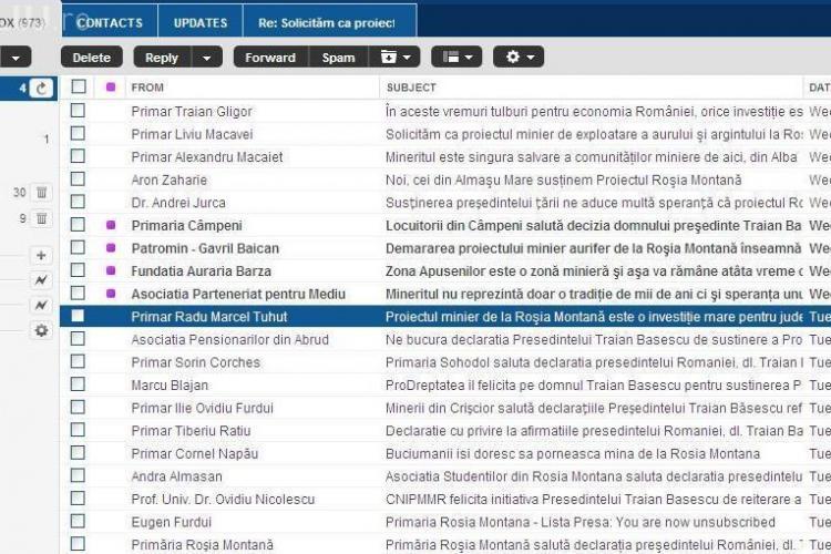 """""""Cianuratii"""" de la Rosia Montana, """"otravesc"""" zilnic e-mail -urile romanilor cu mesaje de tip spam"""