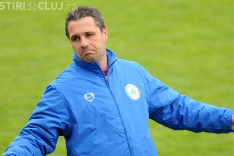 Antrenorul echipei Gloria Bistrita, Marius Sumudica, enervat de un jurnalist clujean dupa meciul cu CFR Cluj - VIDEO