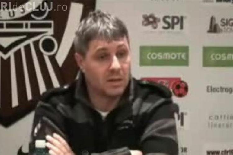 Antrenorul Gloriei Bistrita, Marius Sumudica, l-a intrebat pe un jurnalist clujean daca ii plac baietii- VIDEO