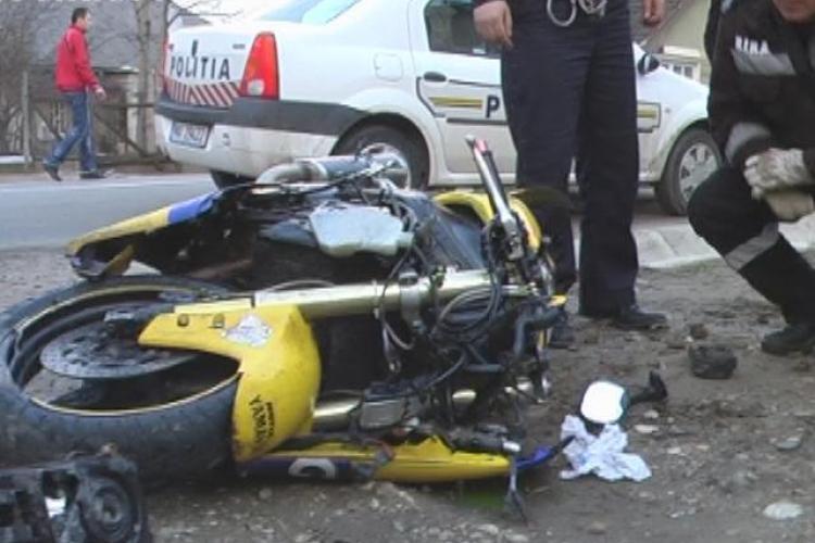 Trei victime intr-un accident de motocicleta, si toate trei baute