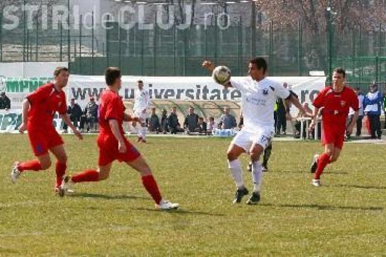 U Cluj - Fortuna Covaci 3-1. Viorel Hizo la prima victorie.