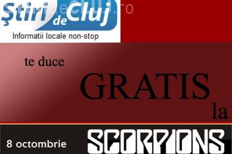 STIRI de CLUJ da GRATIS 15 bilete la concertele Scorpions si Smokie din Cluj in 8-9 octombrie! Vezi cat de simplu le poti primi