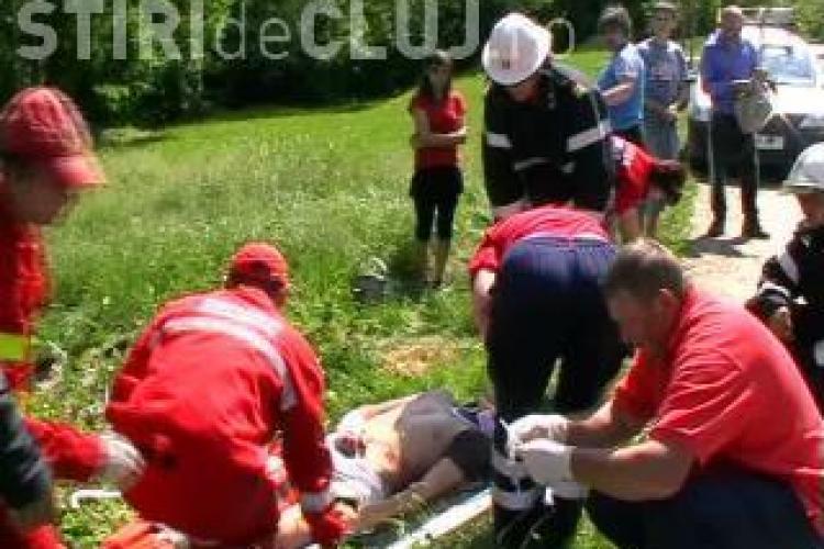 Accident la Nadaselu in care a fost implicata o motocicleta si un autoturism