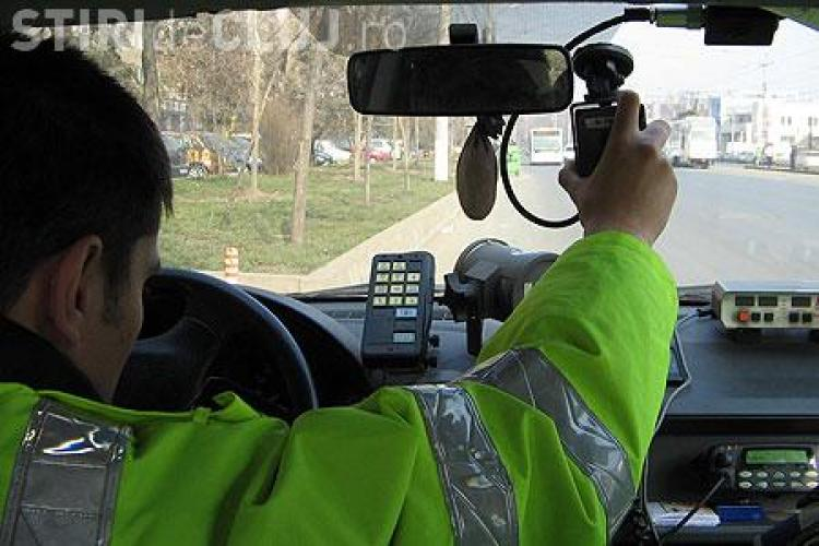 Cluj: Unde sunt amplasate radarele sambata, 10 septembrie